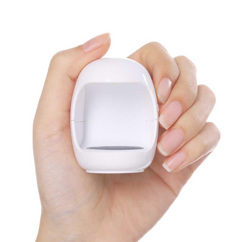 3W USB Mini secador de uñas portátil UV lámpara LED de curado 30s luz de secado rápido para esmalte de Gel