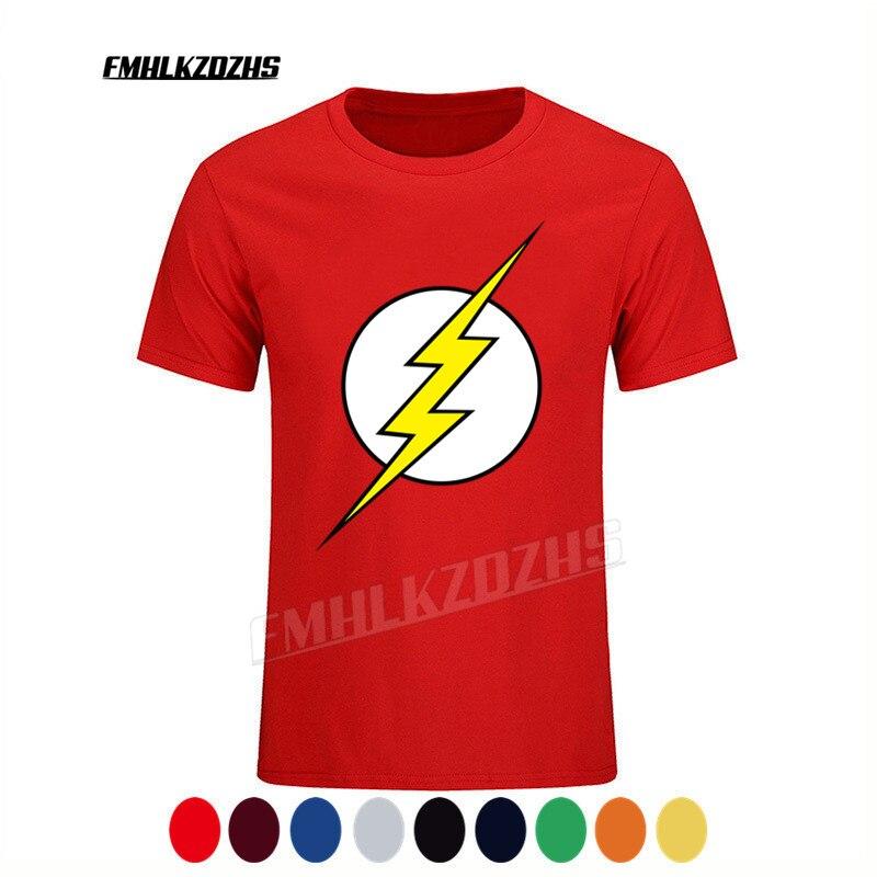 The BIG BANG Theory T-SHIRT the flash print and men t shirts hot selling casual Tee shirt XS~3XL cotton clothing Super hero H101