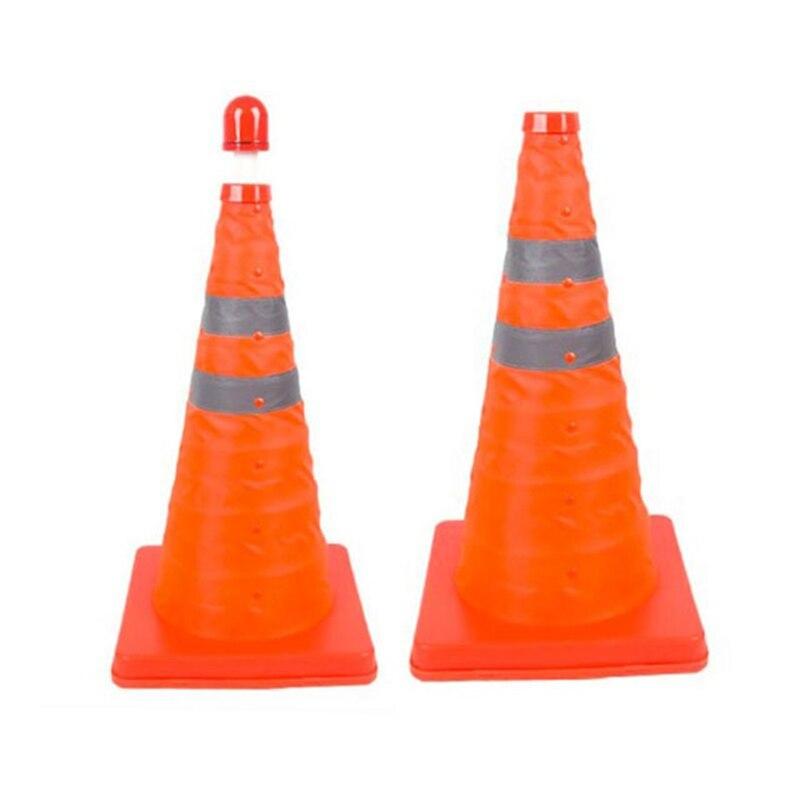 Reflective Traffic Cone Retractable Space-saving Portable Warning Sign Roadblock Hi 888