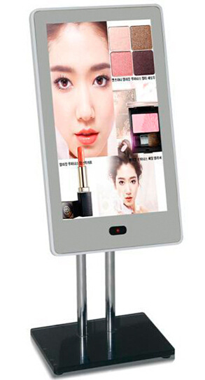13 Inch LCD  Magic Display Digital Kiosk Inch Mirror Wall Type Advertisement Digital Signage Desktop Pc Digital Mirror
