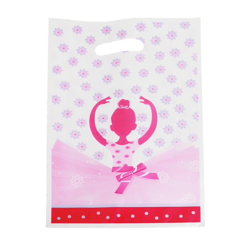 20pcs/lot Lovely Ballet Girl Gift Bags Kids Loot Bag Gift Bags For Girls Happy Birthday Party Decorations&Supplies