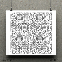 ZhuoAng a group of owls Beautiful Pattern Design Clear Stamp / Scrapbook Rubber Craft Card Seamless