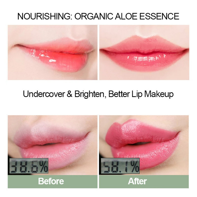 Aloe Vera Natural Lipbalm Color Changing Lipstick Nourish Lips Care Makeup in Lip Balm from Beauty Health