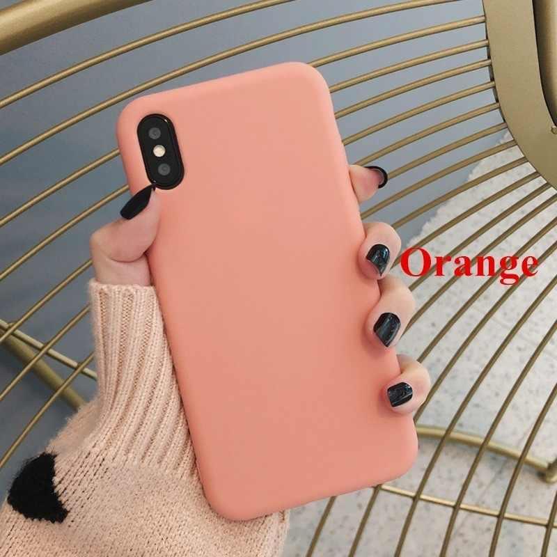 สวย Candy สีโทรศัพท์กรณีสำหรับ IPhone 6 6 S 7 8 PLUS X XR XS MAX น่ารักสีซิลิโคนสำหรับ IPhone X Case Capa
