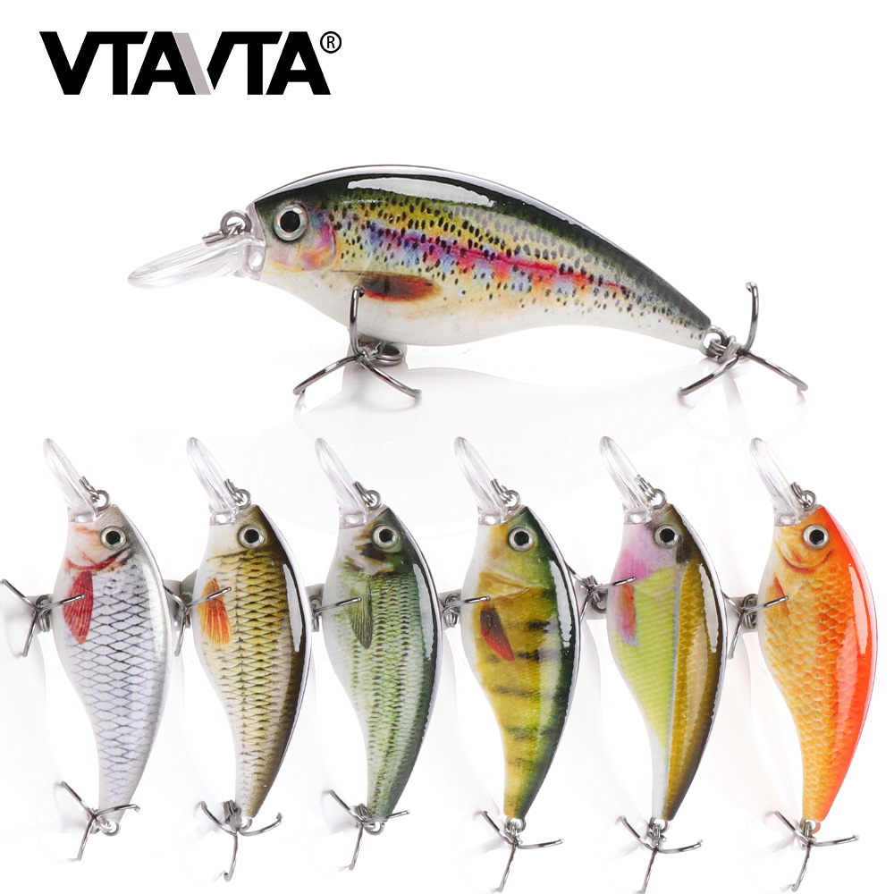 VTAVTA 6cm 10g Rattling Crankbaits Fishing Lures Wobblers For Pike Fishing Tackle Lure Minnow Hard Bait Artificial Black Minnow|Fishing Lures| - AliExpress