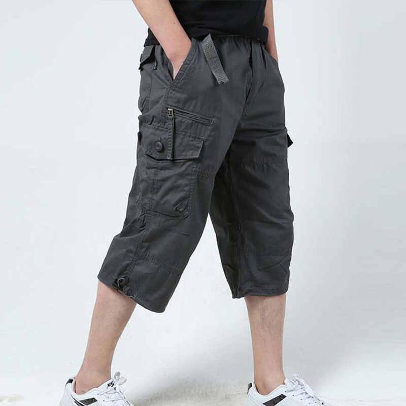Scarpe da Trekking all'aria aperta Capri Shorts Traspirante di Cotone Multi-tasche Tattico militare Cargo Shorts Casual Pantaloni Sportivi Più Il SizeS-5XL