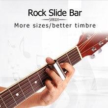 Barra corrediça de rock alta guitarra barra corrediça aço inoxidável metal/vidro dedo corrediças para ukulele instrumentos cordas guitarra acessórios