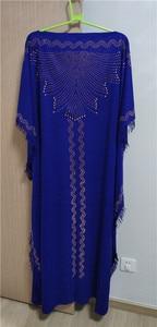 Image 3 - طول الفستان: 145 سنتيمتر فساتين موضة جديدة بازين طباعة Dashiki المرأة طويلة/نمت Yomadou اللون نمط المتضخم