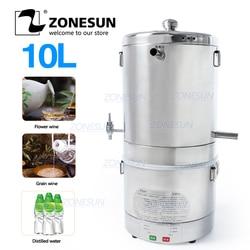 ZONESUN 10L Home brewed distiller Wine Distiller For Flower Grains Fruit Wine Alcohol Home Wine Making Machine Food Equipment