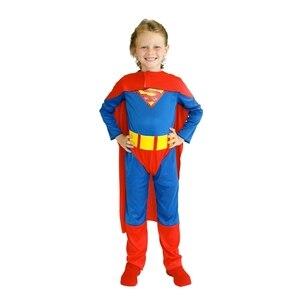 Image 2 - 子供キッズ男の子スーパーヒーロースーパーマンスーパーマン衣装コスプレハロウィンpurimパーティーカーニバルドレスアップB 0023