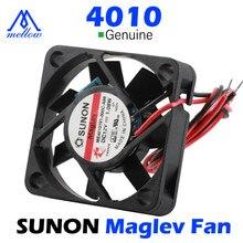 Mellow 12v/24v sunon 3d impressora pequena suspensão magnética de refrigeração rolamento 4010 ventilador de refrigeração extrusora hotend blv mgn cubo ender 3