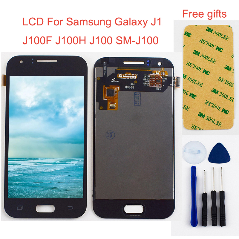 <font><b>LCD</b></font> Display Panel Monitor + Touchscreen Digitizer Sensor Glas Montage Für <font><b>Samsung</b></font> Galaxy J1 J100F J100H <font><b>J100</b></font> SM-<font><b>J100</b></font> image