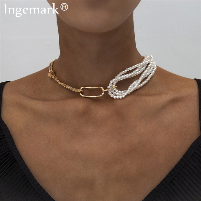 Very Unique pearl and chain wrap necklace 1