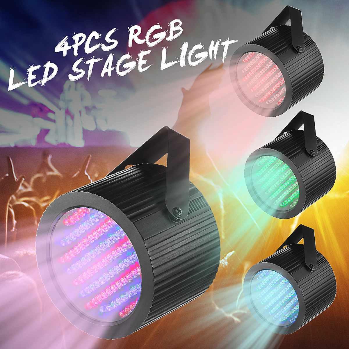 2 Pcs 86 RGB 25W 7 Channels LED Stage Light DMX Laser Projector LED Lamp DJ Disco Club Bar Party Stage Effect Lighting Lights