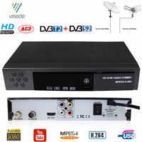 DVB-T2 DVB-S2 HD Digitalen Terrestrischen Satellite TV Empfänger Combo DVB S2 H.264 MPEG-4 TV Tuner Unterstützung CCCAM Bisskey Set top box