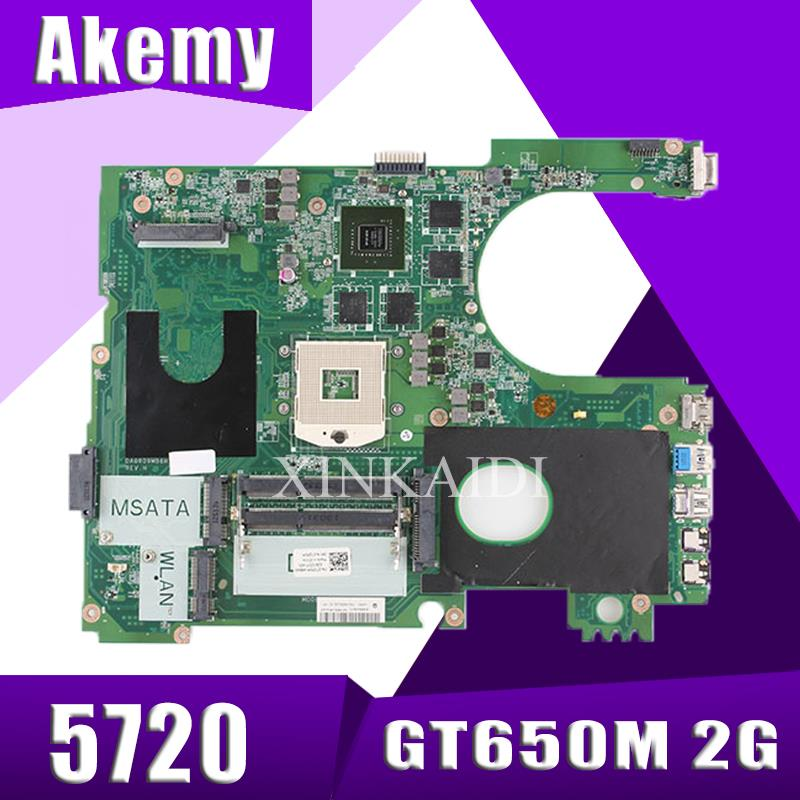 17R N7720 For DELL 5720 7720 Motherboard CN-072P0M 072P0M Motherboard DA0R09MB6H1 DA0R09MB6H3 2D GT650M 2 GB Trabalho 100%