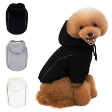 Fleece Dog Hoodies Winter Clothes For Small Dogs Kawaii Coral Velvet Overalls For Puppy Outfits Pet Dog Coats Jackets coral fleece striped turtleneck clothes for dog