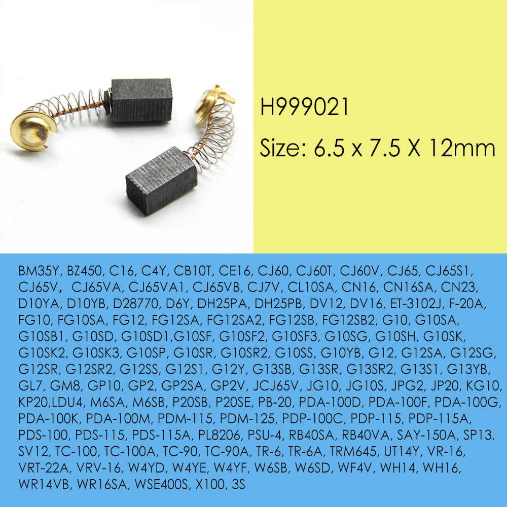 2x Carbon Brushes 6,5 x 7,5 x 12mm for Hitachi T1716EN V-10A UT5V UM15