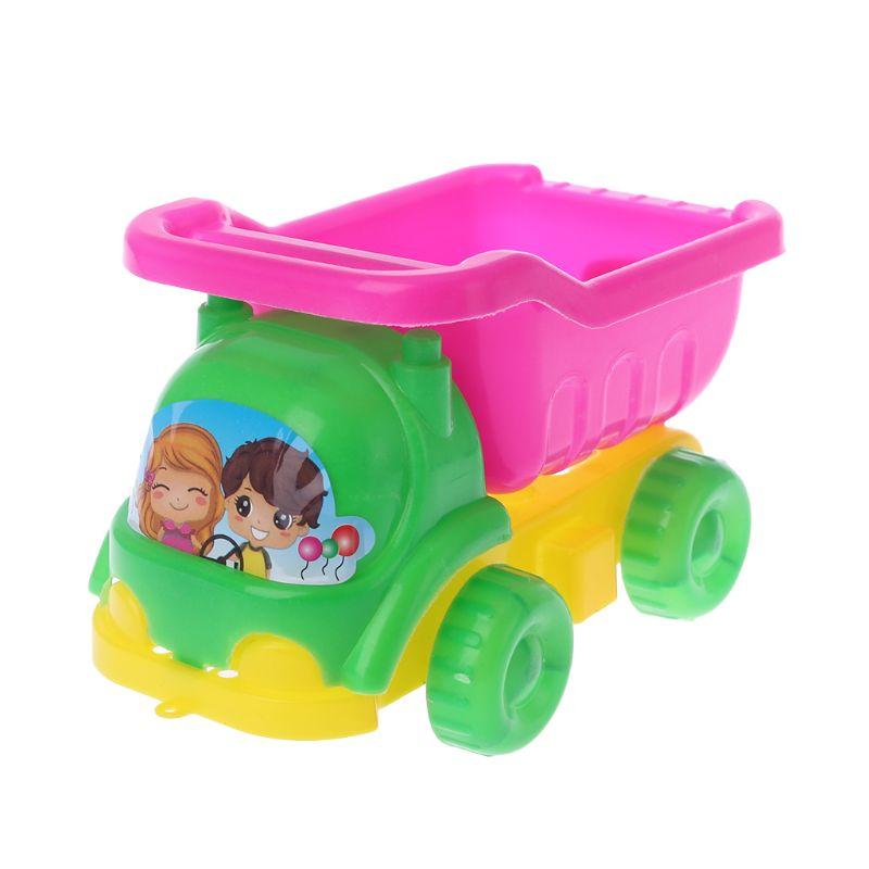 4pcs/set Mini Sand Beach Game Car Rakes Toys Dredging Tool For Children Boys Girls Outdoor Gift
