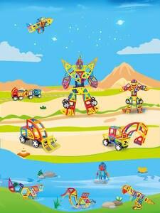 Building-Blocks Construction-Toys-Set Magnet Kids Designer 114PCS for Gfit