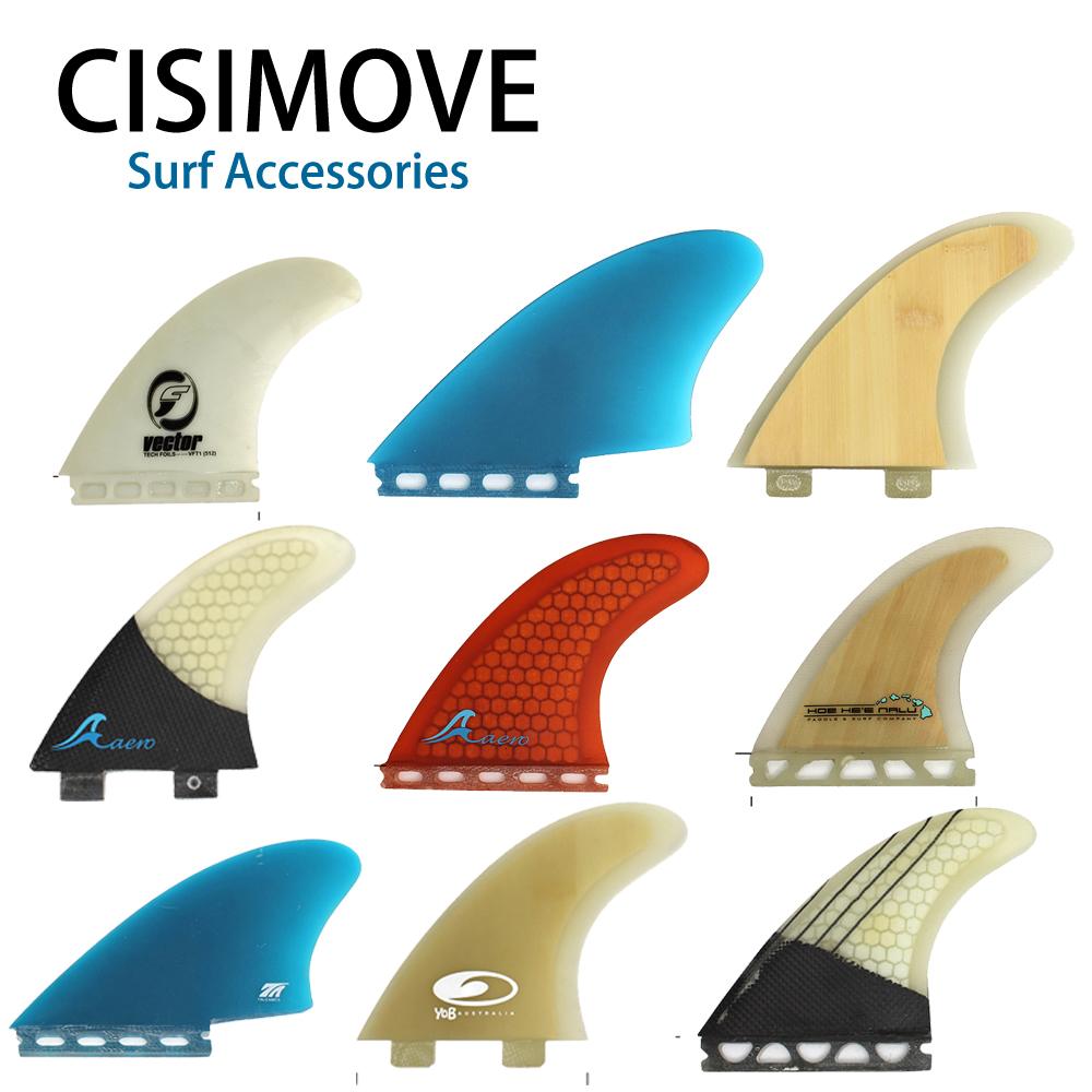 CISIMOVE Fiber Glass Fcs Future Graphic Twin Fin 2-pc Set Fin Surf Board Fin Sup Board Long Board