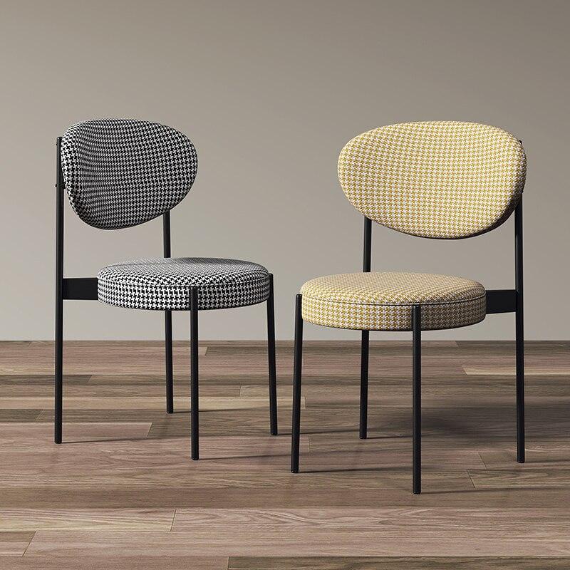 Modern Loft Design Dining chair Nordic Light Luxury Backrest Dining Chairs Simple Restaurant Hotel Stool Living Room Furniture