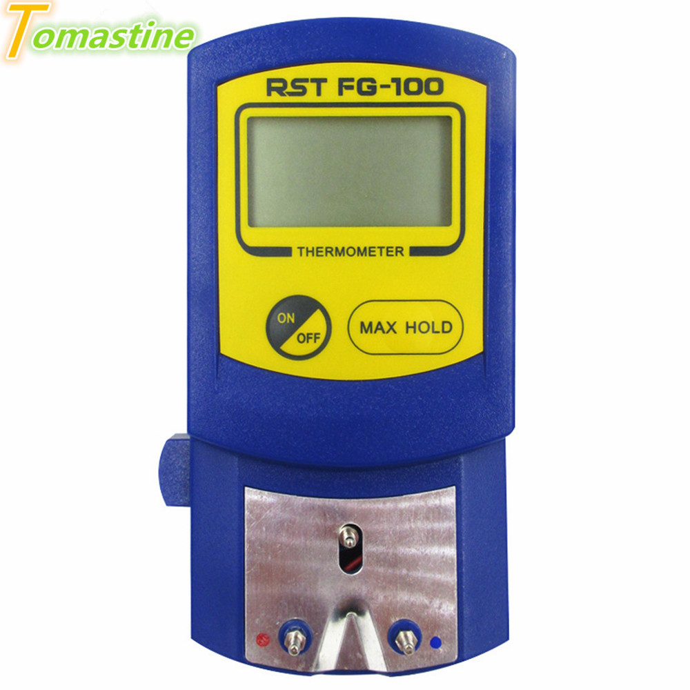 Digital Soldering Iron Tip <font><b>Thermometer</b></font> <font><b>FG</b></font>-<font><b>100</b></font> Instruments Tester for Soldering Iron Tips LCD Display 5 Lead Free Sensor Set image