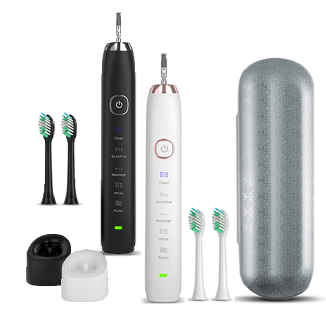 Sarmocare Ultrasonic Sonic Electric Toothbrush Rechargeable S100 5 models Wireless IPX7 Waterproof Vibrator For Toothbrushes