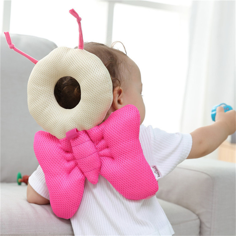 Pink /blue Color Baby Walking Pillow Pad Toddler Baby Head Protection Pad Baby Neck Wings Resistance Cushion Bedding Backpack