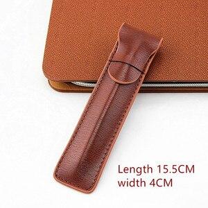 Image 3 - Da Cao cấp Đựng Bút máy Ốp Lưng/Túi cho Đĩa Đơn Bút Cà Phê Bút/Túi
