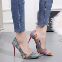 Slip on Thin Heels Wedding Party Shoes for Women Pointed Toe