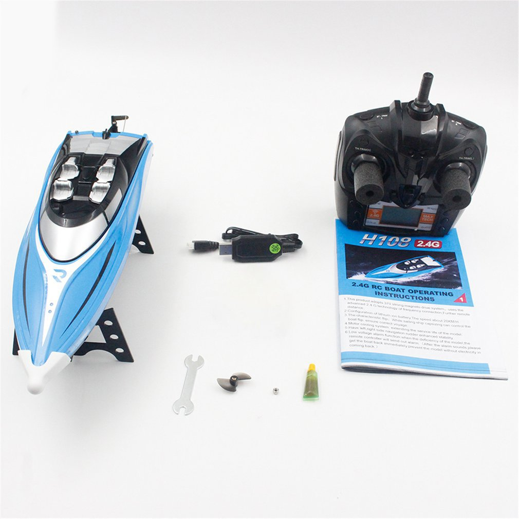 Skytech H108 RC Boat 2.4GHz 4CH Remote Control Boat Racing Boat with Alarm Function Toys Gift for Children Kids