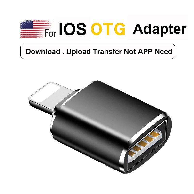 OTG SD Card Reader Micro SD/USB Flash Drive/ Adapter Converter For IOS 13 Above Version 7 8 6 S Plus X Dropshipping Adaptador