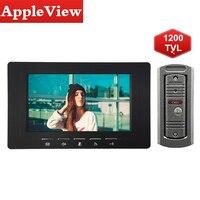 7 Inch Farbe LCD Video Tür Sprechanlage Tür Release Entsperren Türklingel Kamera 1200TVL Wasserdicht|Videosprechanlage|Sicherheit und Schutz -