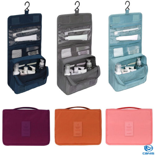 Travel Packing Organizer Make Up Bag Cosmetic Toiletry Case Wash Storage Pouch Hanging Bags Travel Accessories