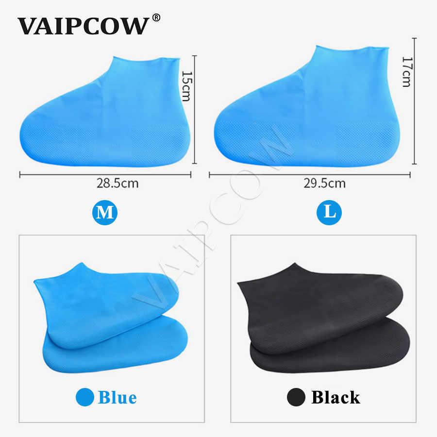 Многоразовые водонепроницаемые резиновые сапоги из латекса; Нескользящие резиновые утолщенные дождевые сапоги; противоскользящие Защитные чехлы для обуви