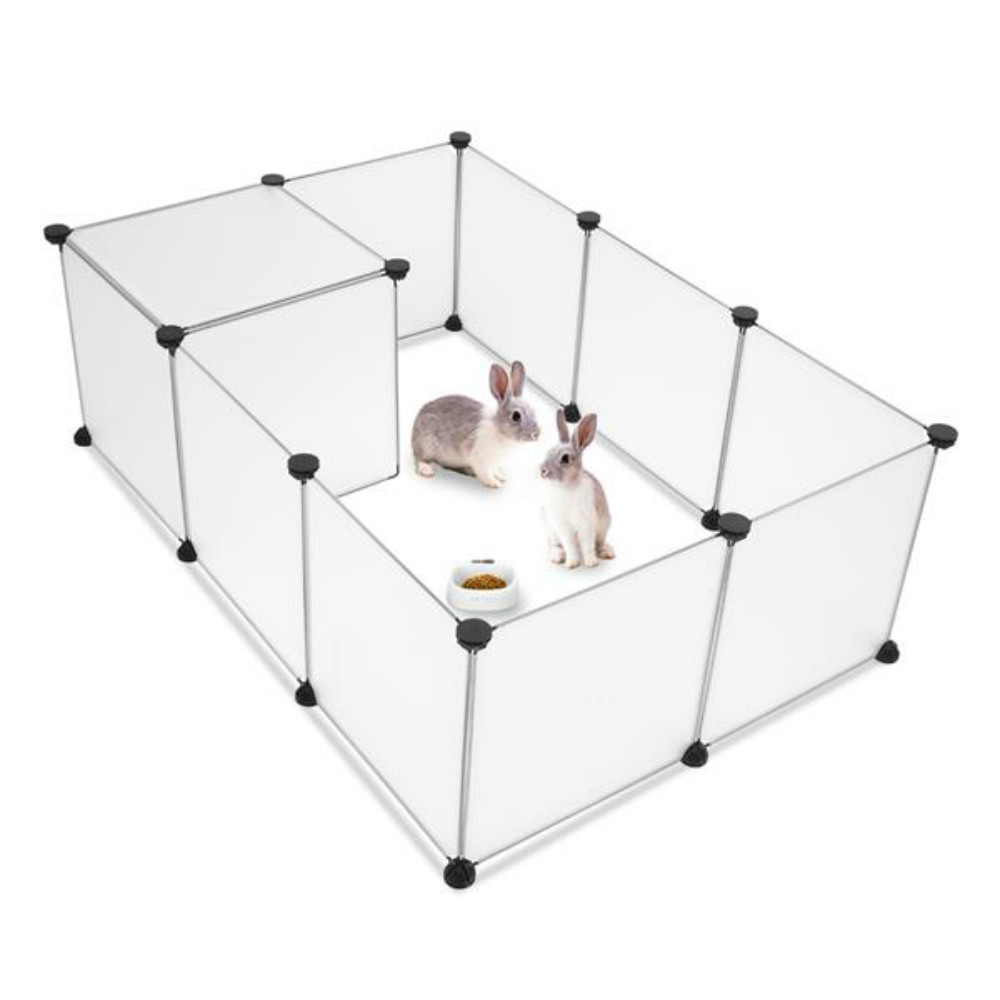 Small Animals Cage Indoor Portable Large Plastic Yard Fence for Small Animals,Rabbits,Puppy Kennel,Crate Tent Pet Playpen 1