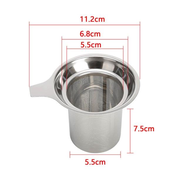 Infuseur à thé réutilisable en acier inoxydable 304 6