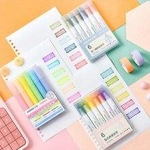 Pastel-Markers Highlighter-Pen Fluorescent-Pen Watercolor Drawing-Marking Students Kawaii