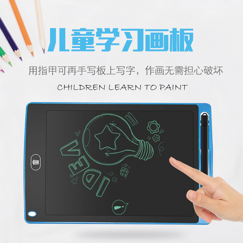 Liquid Crystal Children Handwriting Board Small Blackboard Dust-Free Graffiti Painted Sketchpad Baby Electronic Tablet ~ Childre