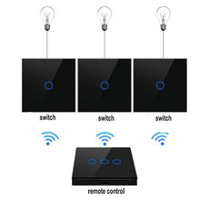wall touch switch wireless RF 433MHZ Switch panel Shape remote control transmitter for smart switch цены онлайн