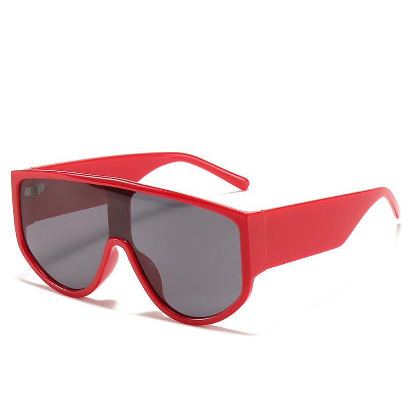 Новейшие трендовые цельные солнцезащитные очки большого размера
