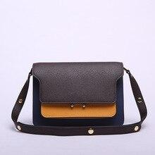 MZORANGE Genuine Leather Women Shoulder Bag Luxury High Quality Patchwork Color Handbags Designer Ladies Crossbody Messenger