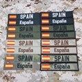 Нашивка-лента с испанским флагом, с вышивкой на липучке, с надписью «Испания», Мультикам, зеленый цвет, черный цвет, Австралия, FG, Tan