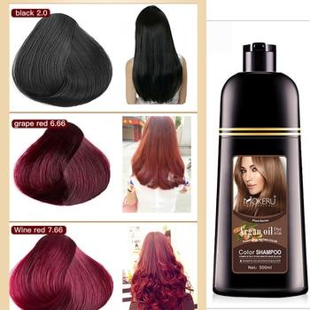 500ml Plant Extract Color Shampoo Argan Oil Hair Dye Permanent Long Lasting Hair Dye Shampoo For Men Women Professional Hair Dye 1