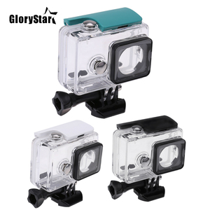 Image 1 - GloryStar 45M Underwater Diving Waterproof Case for Xiaomi Yi Sports Waterproof Box for Xiaomi yi Action camera Protective
