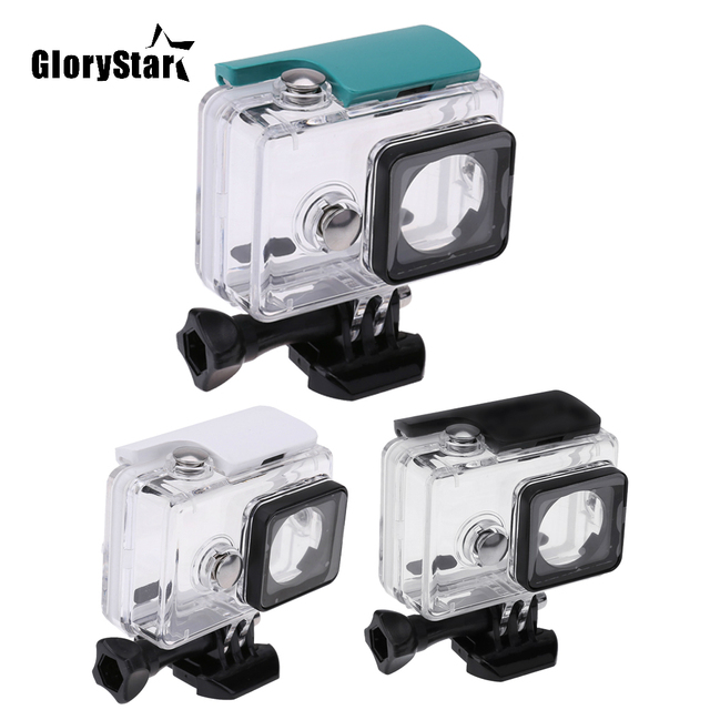 GloryStar 45M Underwater Diving Waterproof Case for Xiaomi Yi Sports Waterproof Box for Xiaomi yi Action camera Protective