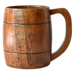 500ML Free Drink Large Jujube Wood with Handle Beer Wooden Cup Milk Cup Handy Cup