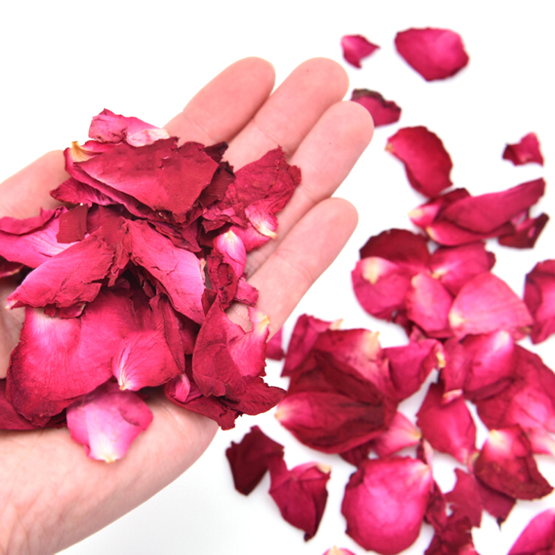 Romantic 20/50/100g Dried Rose Petals Natural Dry Flower Fragrant Bath Spa Shower Tool Whitening Bath Beauty Body Foot Skin Care