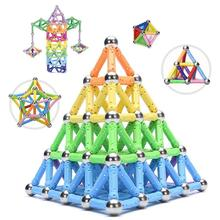 LFAYER DIY Magnet Toy Bars Magnetic Building Blocks Construction Toys For Children Designer Educational Toys For Kids